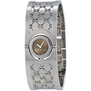 GUCCI twirl watch in stainless steel